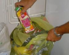 collecte des emballages en sacs jaunes