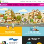 Capture d'écran site internet Eco emballage, espace juniors