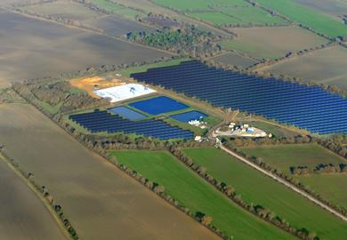 Projection du champs de panneaux solaires