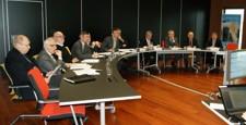 Le Président et les Vice-présidents lors d'une réunion de bureau
