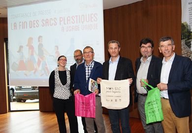Distribution de sacs réutilisables biosourcés