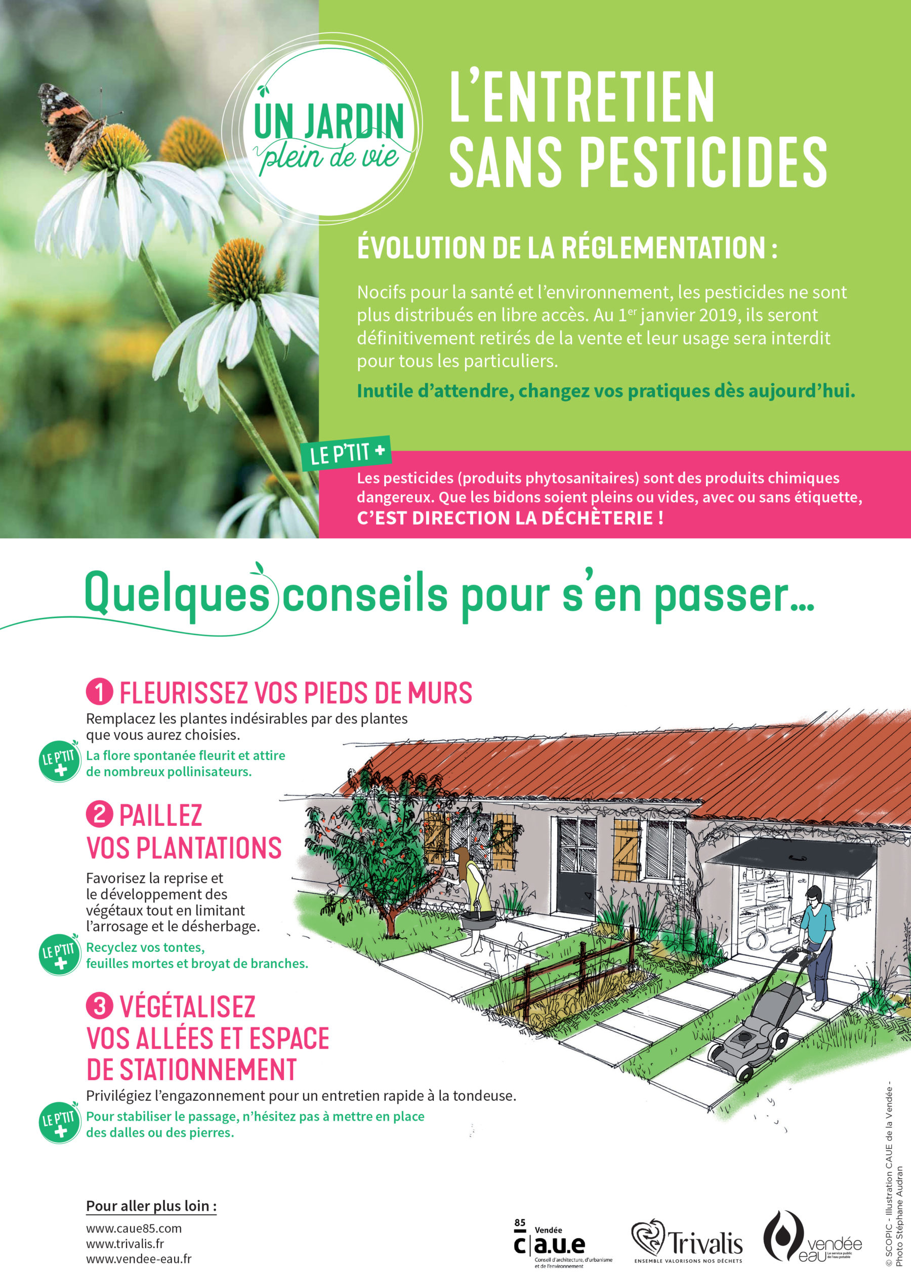un jardin plein de vie - l'entretien sans pesticide | trivalis