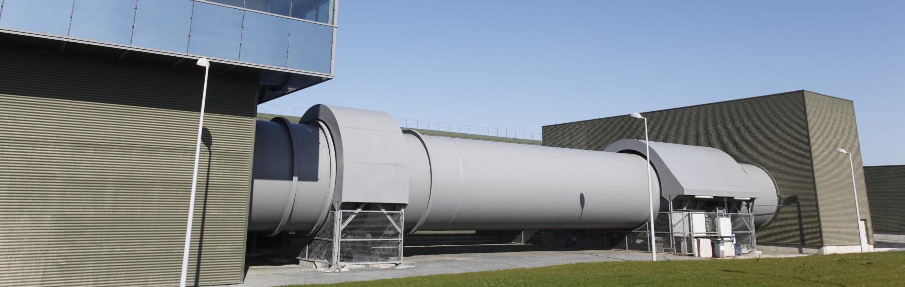 Un des tubes de pré-fermentation de l'usine Trivalandes Photo Trivalis - D Fugères