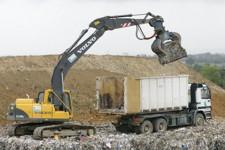Stockage des déchets en balles