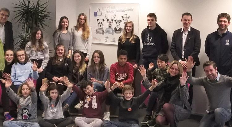 Les jeunes de la web-team Génération Eco-responsable